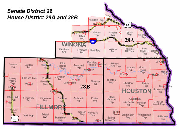 Fillmore County GOP - Minnesota District Maps on
